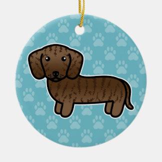 Ornamento De Cerâmica Rajado alise o cão dos desenhos animados do