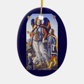 Ornamento De Cerâmica Raphael do santo de San Rafael