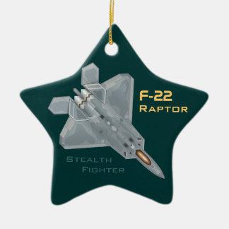 Ornamento De Cerâmica Raptor F-22