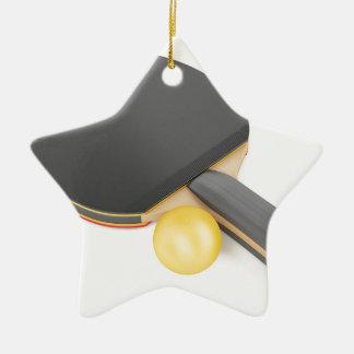 Ornamento De Cerâmica Raquete e bola de ténis de mesa