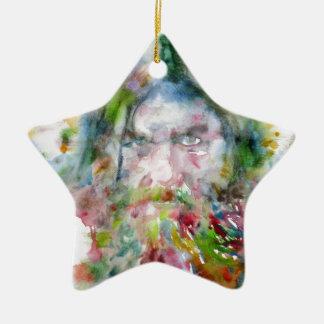Ornamento De Cerâmica RASPUTIN - aguarela portrait.3