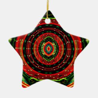 Ornamento De Cerâmica Rasta psicadélico