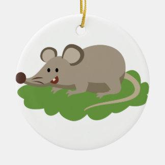 Ornamento De Cerâmica rato bonito do rato