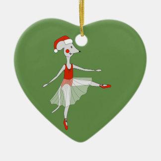Ornamento De Cerâmica Rato da bailarina - Special do Natal