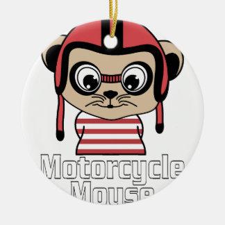 Ornamento De Cerâmica Rato da motocicleta, design do vintage dos