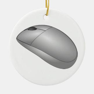 Ornamento De Cerâmica Rato do computador