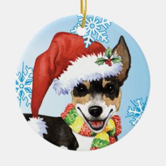 Ornamento De Cerâmica Rato feliz Terrier de Howlidays