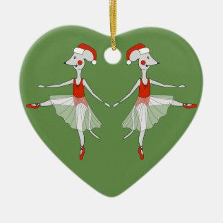 Ornamento De Cerâmica Ratos da bailarina - Special do Natal