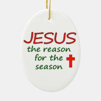 Ornamento De Cerâmica Razão de JESUS para o Natal da estação