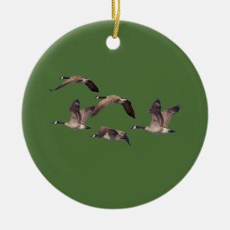 Ornamento De Cerâmica Rebanho de gansos selvagens