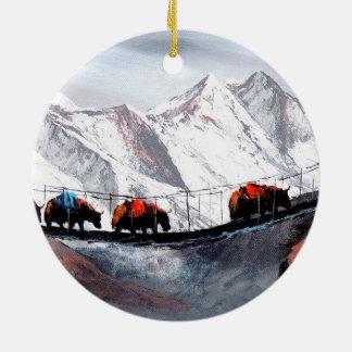 Ornamento De Cerâmica Rebanho de iaques Himalaya da montanha