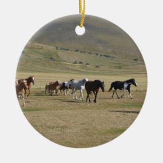 Ornamento De Cerâmica Rebanho dos cavalos