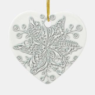 Ornamento De Cerâmica Redemoinho do floco de neve