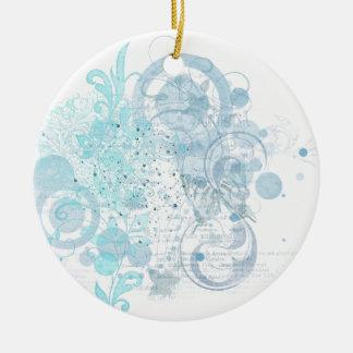 Ornamento De Cerâmica Redemoinhos azuis
