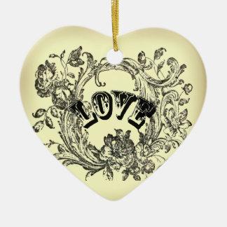 Ornamento De Cerâmica redemoinhos velhos chiques boémios do flourish da