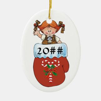 Ornamento De Cerâmica Redhead do mitene da brownie