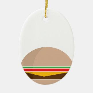 Ornamento De Cerâmica refeição do fast food