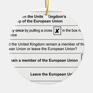 Ornamento De Cerâmica Referendo de Brexit no Reino Unido