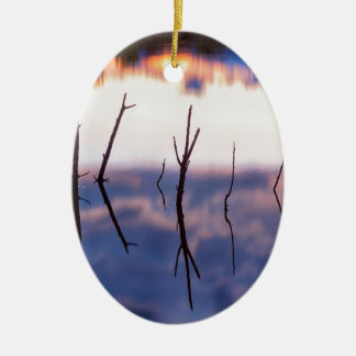 Ornamento De Cerâmica Reflexões Twiggy caídas