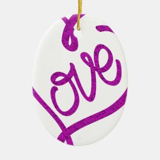 Ornamento De Cerâmica refrigere o design bonito do amor