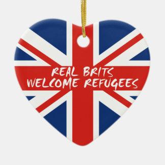 Ornamento De Cerâmica Refugiados bem-vindos dos Británico reais