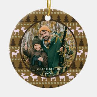 Ornamento De Cerâmica Região selvagem rústica, Brown, foto dois, frente