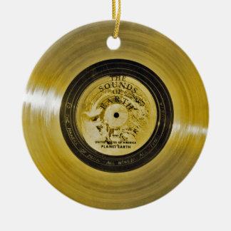 Ornamento De Cerâmica Registro dourado e cobrir da nave espacial do