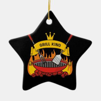Ornamento De Cerâmica Rei da grade