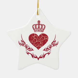 Ornamento De Cerâmica Rei do coração