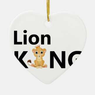 Ornamento De Cerâmica rei do leão