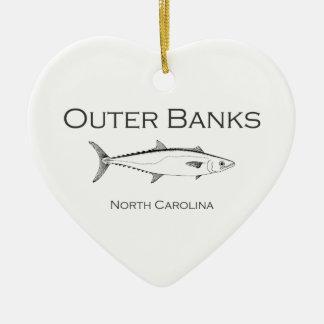 Ornamento De Cerâmica Rei exterior cavala de North Carolina dos bancos