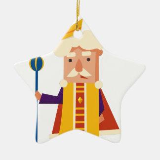 Ornamento De Cerâmica Rei personagem de desenho animado
