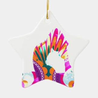 Ornamento De Cerâmica Rei Pombo Levantamento Série da ioga de Boho