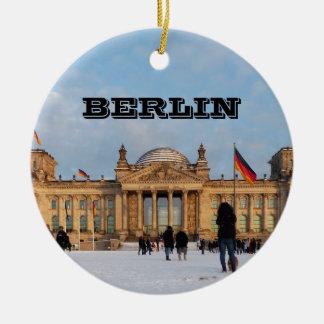 Ornamento De Cerâmica Reichstag_001.02 nevado (Reichstag im Schnee)