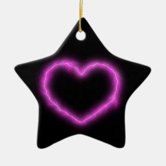 Ornamento De Cerâmica Relâmpago do coração