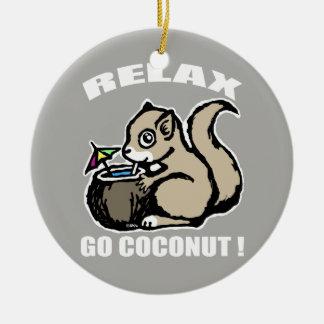 Ornamento De Cerâmica Relaxe! Vai o coco