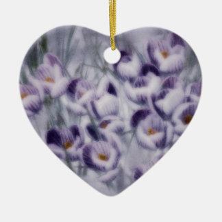 Ornamento De Cerâmica Remendo do açafrão da lavanda