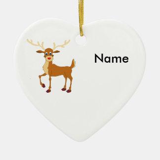 Ornamento De Cerâmica Rena do estilo de Rudolph