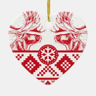 Ornamento De Cerâmica Rena Toile de Jouy Coração