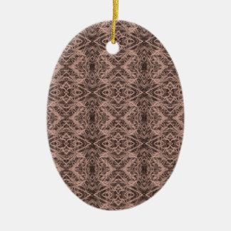 Ornamento De Cerâmica Repetição do Foxtail de Tan
