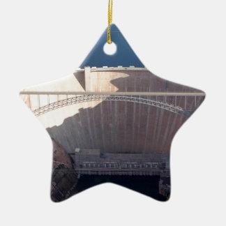 Ornamento De Cerâmica Represa da garganta do vale e ponte, arizona