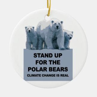 Ornamento De Cerâmica Represente acima os ursos polares