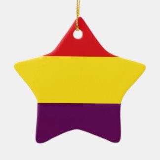 Ornamento De Cerâmica República da bandeira da espanha - bandera