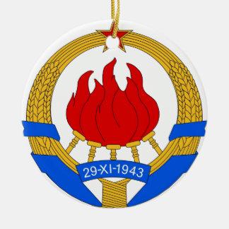 Ornamento De Cerâmica República federal socialista do emblema de