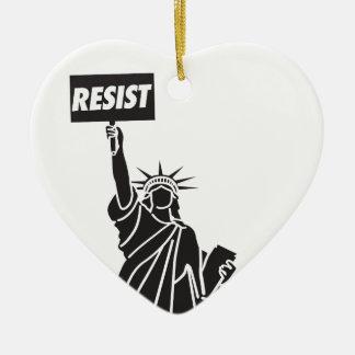 Ornamento De Cerâmica Resist_for_Liberty