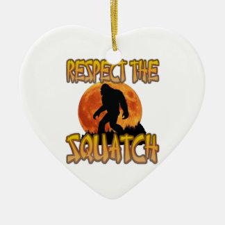 Ornamento De Cerâmica Respeite o Squatch