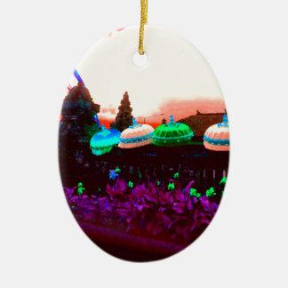 Ornamento De Cerâmica Respingo do guarda-chuva de Bali