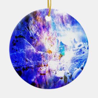 Ornamento De Cerâmica Respire outra vez sonhos da noite de Yule