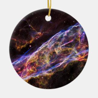 Ornamento De Cerâmica Resto do Supernova da nebulosa do véu