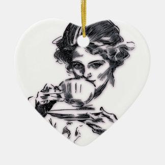Ornamento De Cerâmica Retrato